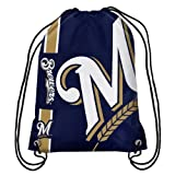 MLB Milwaukee Brewersbig Logo Drawstring Backpack, Milwaukee Brewers, One Size