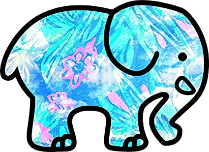d0bd70f2448539 Amazon.com  Blue Pink Floral Ivory Ella Sticker Decal Window Bumper ...