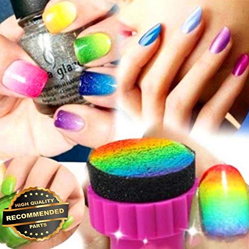 - Gatton Premium New DIY Nail Art Sponge Stamp Stamping Polish Template Transfer Tips Manicure Set \   Style MNCRSET-301122517