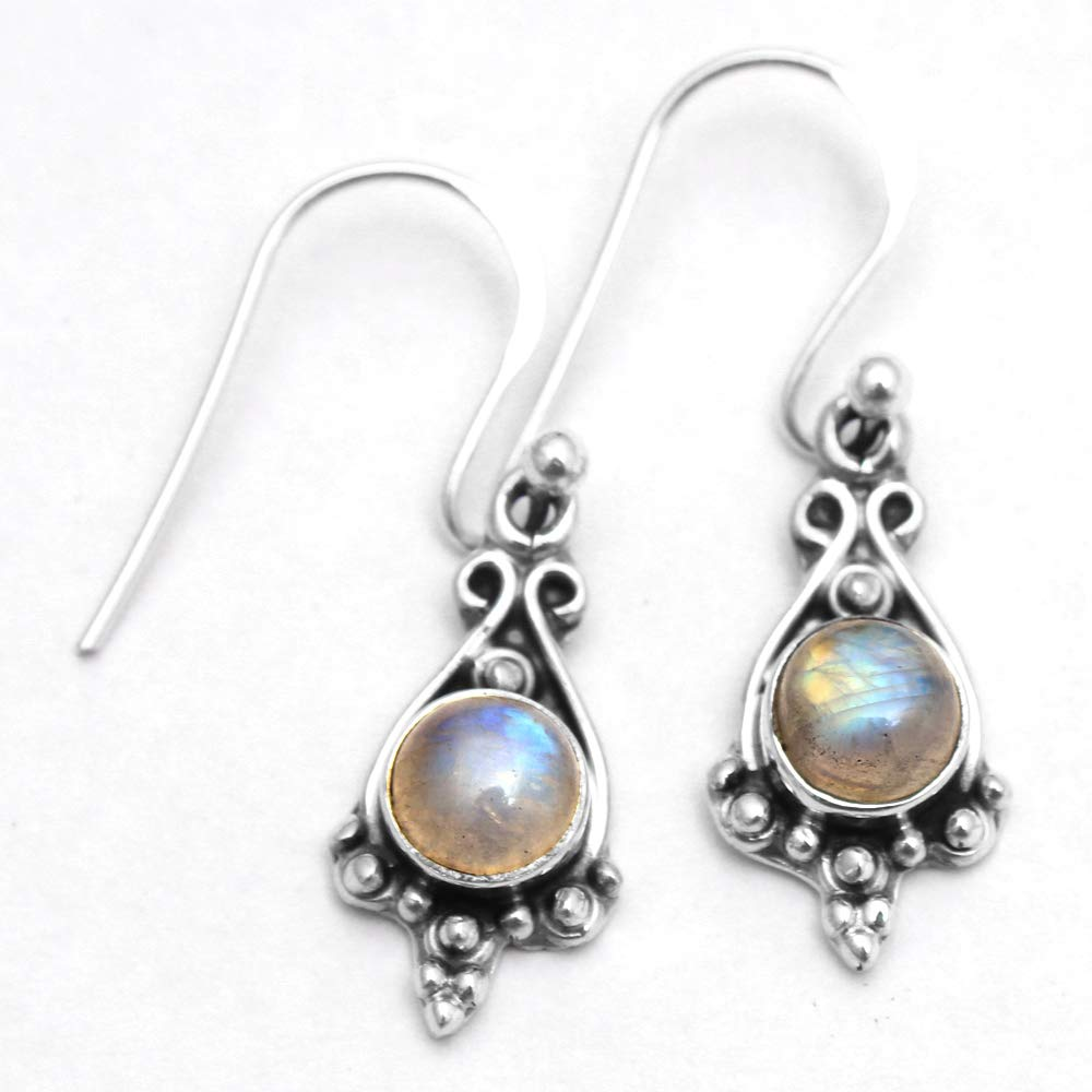 """Moonstone Designer Solid Dangle Earring 925 Sterling Silver jewelry 1.25/"""""""