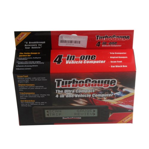 Newest TurboGauge IV Auto Computer Scan Tool Digital Gauge 4 in 1