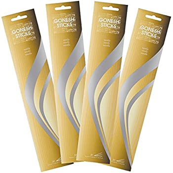Gonesh Vanilla-4 PACKS-120 Total Everyday Incense, 120 Stick