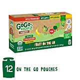GoGo squeeZ Organic Applesauce on the Go, Variety Pack (Apple/Banana/Strawberry), 3.2 Ounce (12 Pouches), Gluten Free, Vegan Friendly, Healthy Snacks, Unsweetened, Recloseable, BPA Free Pouches