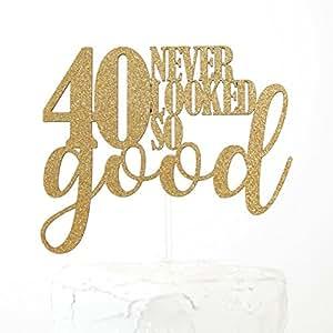 Amazon.com: NANASUKO 40th Birthday Cake Topper - 40 Never ...