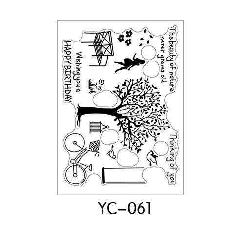 Hunulu Various Parttens Transparent Clear Rubber Stamp Sheet Cling Scrapbooking DIY - Stamp Clear Rubber Alphabet