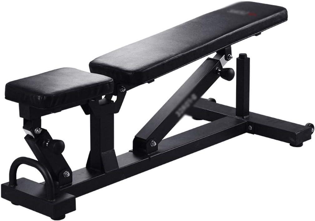 トレーニングベンチ ワークベンチエクササイズベンチ折りたたみ式ベンチホームフィットネスウエイトベンチ、約150KG (Color : 黒, Size : 130*57*43cm) 黒 130*57*43cm