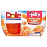 Dole Fruit Gel Bowls Mandarins in Orange Flavour Jelly (4x113g) - Pack of 2