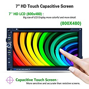 """Reakosound 6.95"""" High-efinition Digital screen Car Stereo Auto DVD Player F6323B 800480,Capacitive Screen touch screen Radio module Auto 7158G with retractabling automaticly function"""