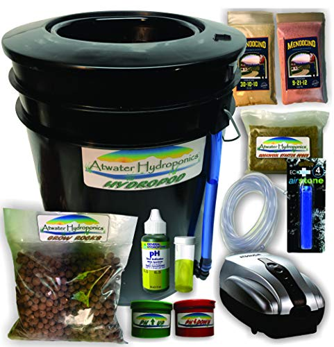 $69.95 Hydroponics Kits The Atwater HydroPod – Standard A/C Powered DWC Deep Water Culture/Recirculating Drip Hydroponic Garden System Kit – Bubble Bucket – Bubbleponics – Grow Your Own! Start Today! 2019