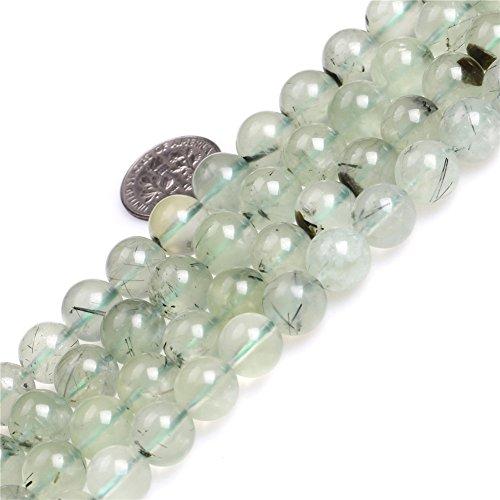 10mm Round Gemstone Green Prehnite Beads Strand 15 Inches Jewelry Making Beads
