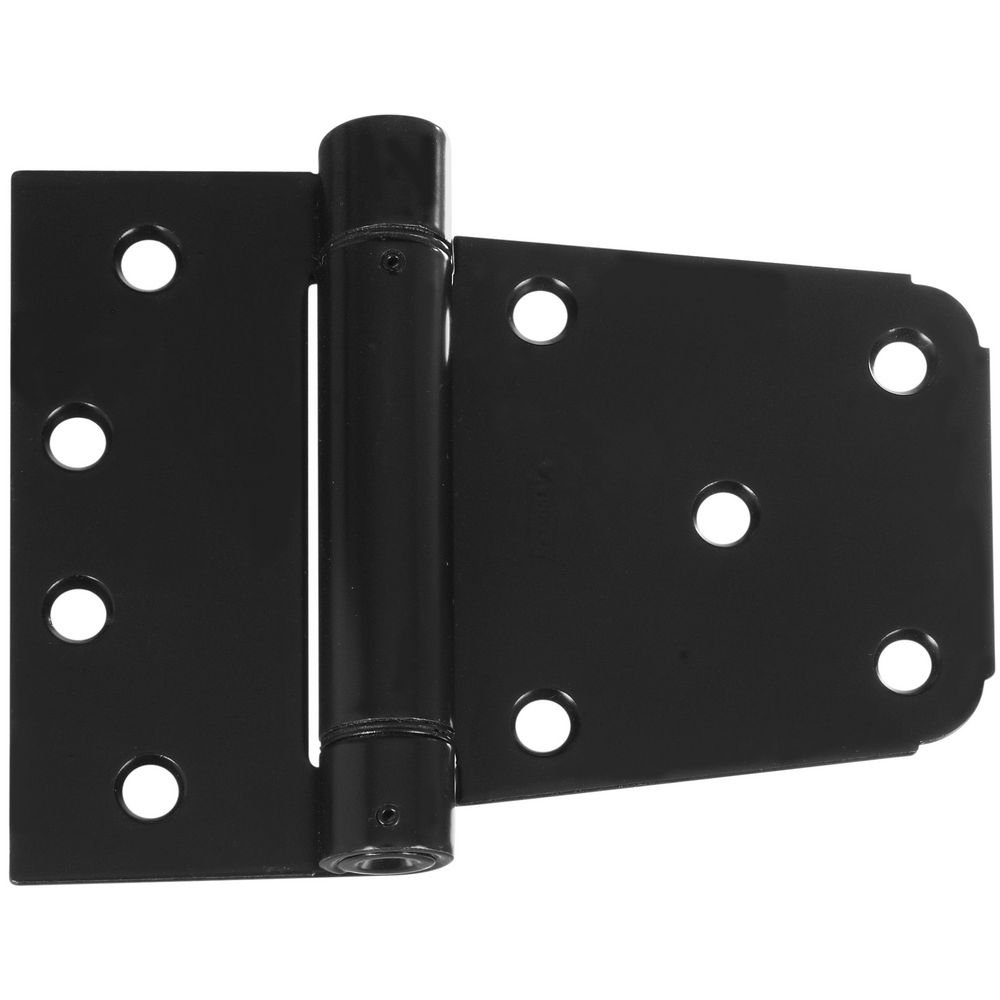 National Hardware N342-774 V278 Heavy Duty Auto-Close Gate Hinge Set in Black by National Hardware