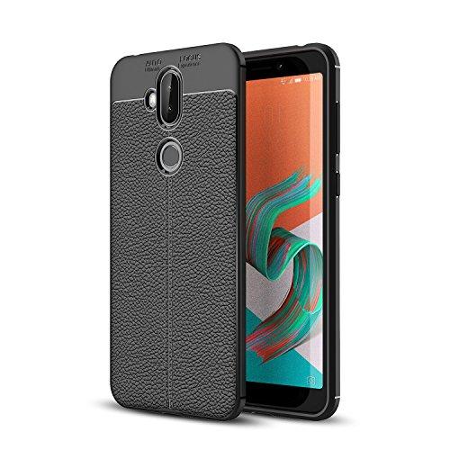 Asus ZenFone 5Q ZC600KL Case,MYLB Lightweight Carbon Fiber Design Flexible Soft TPU Case Highstrength Shockproof Protective Back Cover to Protect the Mobile Phone for Asus ZenFone 5Q ZC600KL (Black)