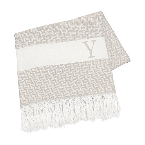 Cathy's Concepts Personalized Turkish Throw, Letter Y, Beige