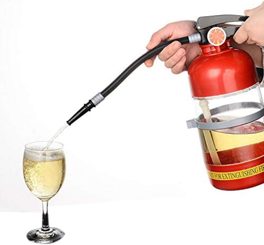 Extintor de Incendios 2L Pourer Dispensador de Bebida de Vino Fiesta Dispensador de Agua de Cerveza Barriles de Cerveza Bar Bebidas Bebidas de Licor Dispensador de Cerveza Artesanal