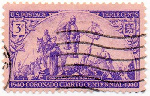 Single Coronado (USA Postage Stamp Single 1940 Coronado Issue 3 Cent Scott #898)