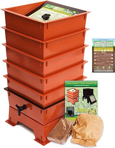 - Worm Factory DS5TT 5-Tray Worm Composting Bin + Bonus
