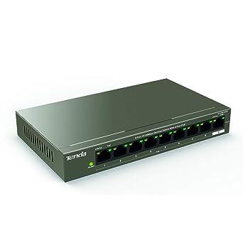 Tenda Tef1109p 8 63w 8 Port 10 100 Mbit S Desktop Switch Mit 8 Port Poe Max 58 Watt Zusätzlich 1x Uplink Vollduplex Metallgehäuse 250 Meter Plug Play Gewerbe Industrie Wissenschaft