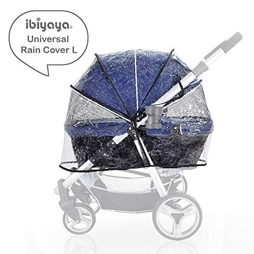 ibiyaya Universal Pet Stroller rain Cover Weather Shield (Large)