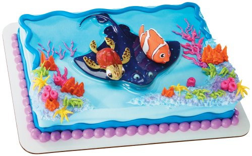 DecoPac Finding Nemo and Squirt Decoset (Finding Nemo Birthday Party Decorations)