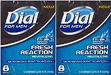 Dial for Men Fresh Reaction, Sub Zero Glycerin Bar Soap, 4 Oz Bars
