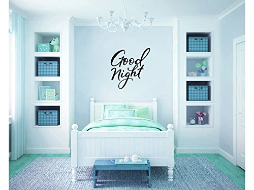 Goodnight Good Night Vinyl Wall Words Decal Sticker ()