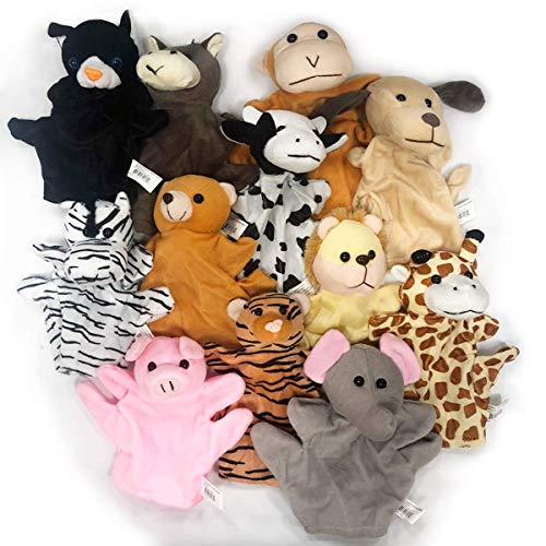 Kicko Animal Puppets 8.25 Inches - 12 Pieces - Assorted Hand Puppet Animals Includes Arms and Legs - Party Favors, Fun, Toy, Prize]()
