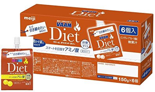 Pink Jelly Medium - Meiji VAAM Diet Jelly Pink grapefruit flavor 150g × 6 packs
