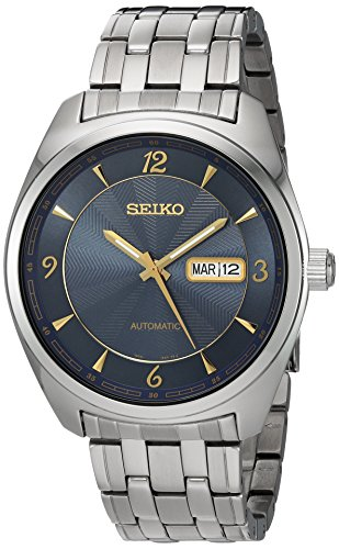 Seiko Men s Recraft Automatic Watch Silvertone with Blue Dial