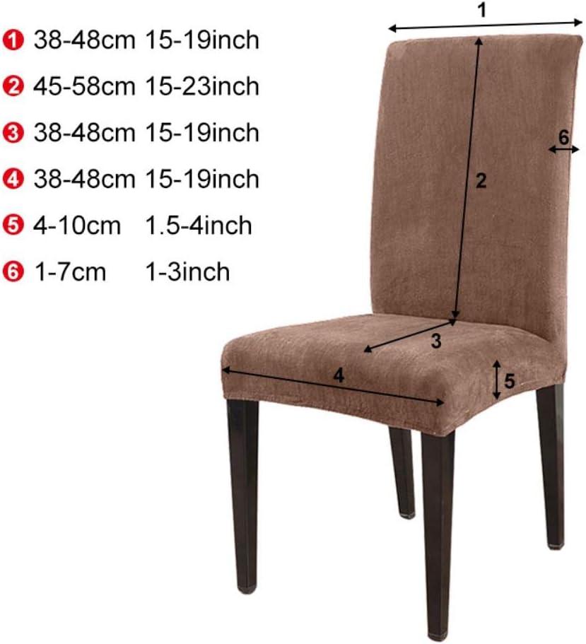 LLAAIT 124 6PCs Amovible Stretch Couleur Unie Chaise