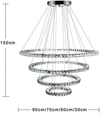 LightInTheBox Dimmable LED Crystal Chandeliers Lights Remote Control Pendant Lighting Fixture
