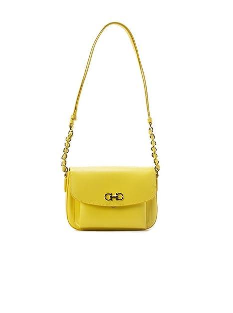 6d5716ab5d Salvatore Ferragamo Sandrine Shoulder Bag - Yellow  Amazon.ca  Shoes    Handbags