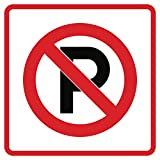 Aluminum No Parking Business Office School Outdoor Square Sign - Single Sign, 12x12