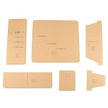 XBC-05 - Plantilla de acrílico con patrón de cartera, hecha a mano con cuero, para manualidades, para manualidades, para llevar tarjetas y billetes: ...