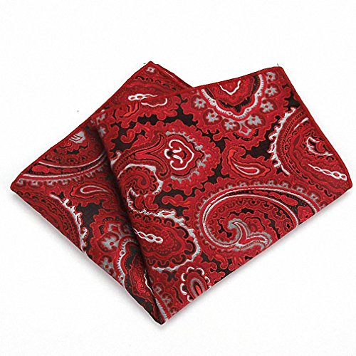 Hot Sale Gentleman Paisley Flower Polyester Silk Hanky Men Groom Pocket Square Handkerchief Prom Wedding Christmas Party Gift SFKR 320