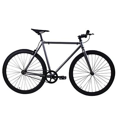 Golden Cycles Fixed Gear Single Speed Fixie Road Bike (Asphalt, 52)