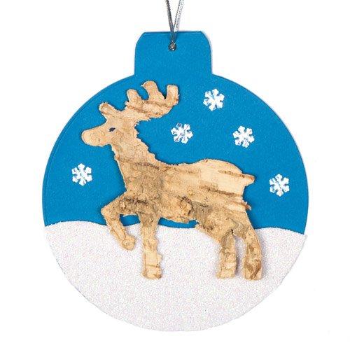 Decorazioni e ghirlande di Natale Articoli artistici creativi per creazioni Natalizie Fai da Te e per Realizzare Album Confezione da 20 Baker Ross Renne in Corteccia Naturale