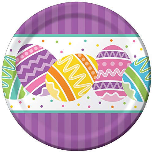 Creative Converting 8 Count Paper Dessert Plates, Easter Che