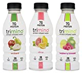 Trimino Protein Infused Water, Natural Variety Pack, 16 Ounce (Pack of 12)
