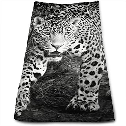 Black and White Jaguar Art Print Cool Towel Beach Towel Instant Cool Ice Towel Gym Quick Dry Towel Microfibre Towel Cooling Sports Towel for Golf Swimming Yago Football Beach Garden Holiday