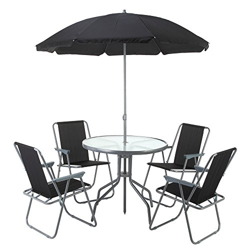 Cheap  Palm Springs Outdoor Compact Patio Dining Set with Table, 4 Chairs and..
