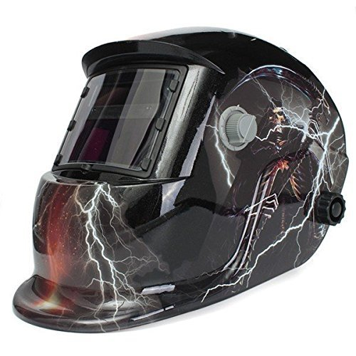 JT Tech Skull God With Lightning Solar Auto - Welding Helmets Lightning