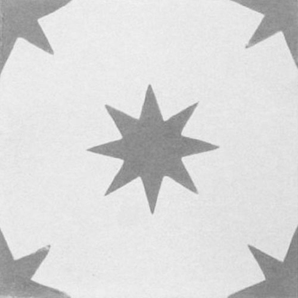 orange rot Bestelleinheit: Karton mit 10 Fliesen Zementfliesen Stern