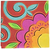 Amscan Fiesta Caliente Cinco De Mayo 2-Ply Beverage Napkins Paper 5'' x 5'' Pack 36 Childrens Party (432 Piece)