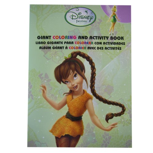 Tinkerbell Coloring Book - Disney Fairies Tinkerbell Tri-Lingual Jumbo Coloring And Activity Books (1 Book)