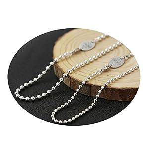 dbc9c29058bf Daesar Collar Punk Collar Hombre Mujer Collar Plata de Ley 925 Collar Cadena  Bola Collar para Hombre y Mujer Collar Plata Collar