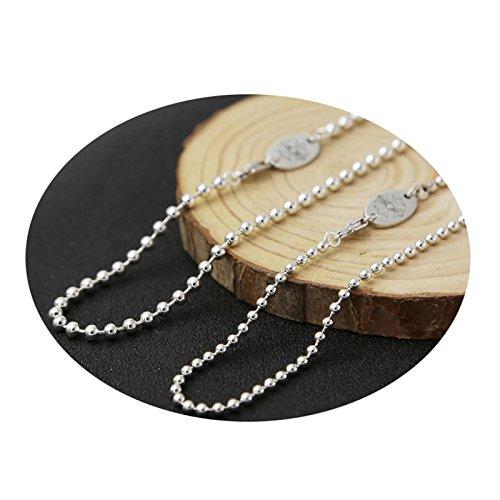 Daesar Collar Punk Collar Hombre Mujer Collar Plata de Ley 925 Collar Cadena Bola Collar para Hombre y Mujer Collar Plata...