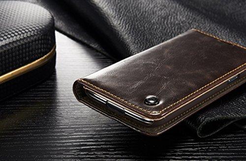 Carcasas y fundas Móviles, Para Samsung Galaxy S5 Mini, Estilo de Lujo Negocios Color Sólido Cartera de Cuero de LA PU Diseño Magnético Flip Funda protectora Folio con Ranura para Tarjeta / Soporte pa Brown