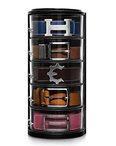 Elypro Organizador de cinturones – Organizador acrílico transparente para cinturones, relojes, joyas, cosméticos,...
