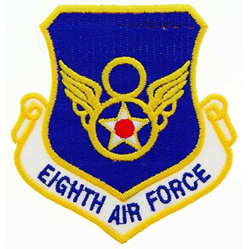 U.S. Air Force 8th Air Force Shield Patch Blue & Yellow