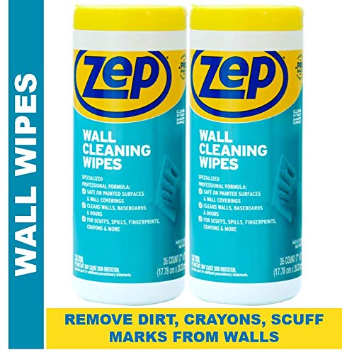 New Zep Wall Cleaning Wipes (Pack of 2) - Remove Stains from Walls from Crayons, Dirt, and Scuff Marks